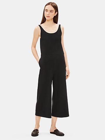 Cotton Stretch Jersey Wide-Leg Jumpsuit