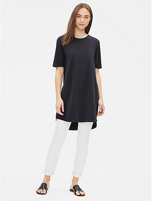 Cotton Stretch Jersey Shift Dress