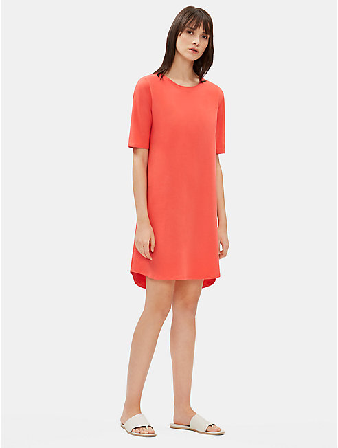 Cotton Stretch Jersey Shift Dress