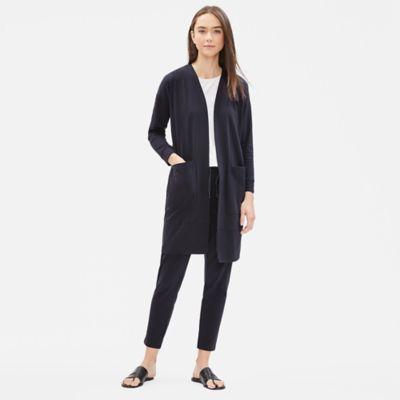 Cotton Stretch Jersey Long Jacket