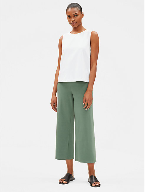 Cotton Stretch Jersey Wide Pant