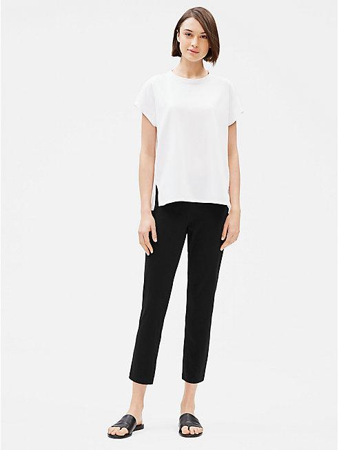 Cotton Stretch Jersey Slim Ankle Pant