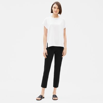Cotton Stretch Jersey Slim Ankle Pant