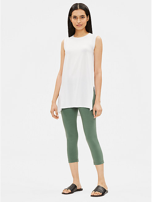 Cotton Stretch Jersey Capri Leggings