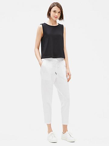 Cotton Stretch Jersey Slouchy Pant