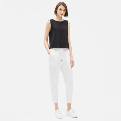 Cotton Stretch Jersey Slouchy Pant