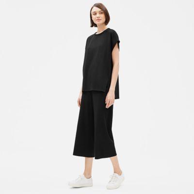 Cotton Stretch Jersey Short-Sleeve Box-Top