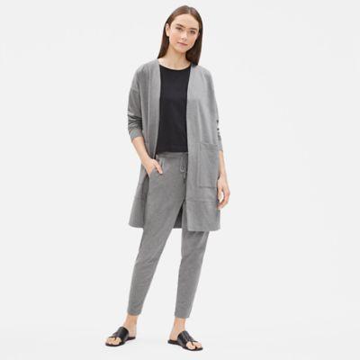 Heathered Organic Cotton Long Jacket