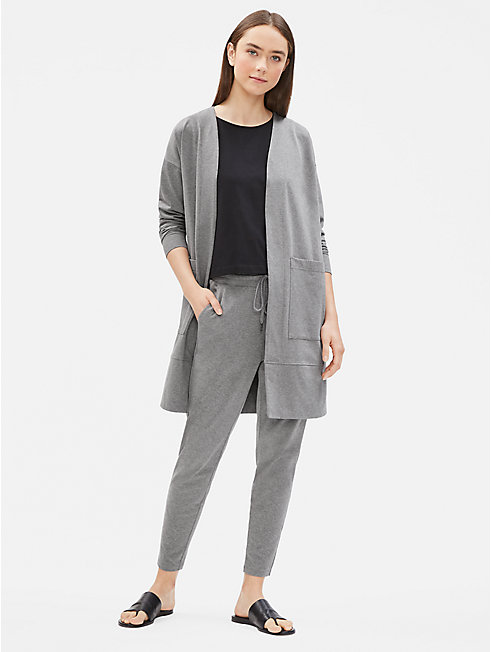 Heathered Organic Cotton Long Jacket