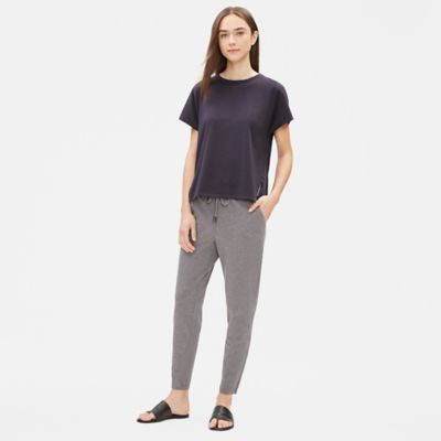 Heathered Organic Cotton Slouchy Pant