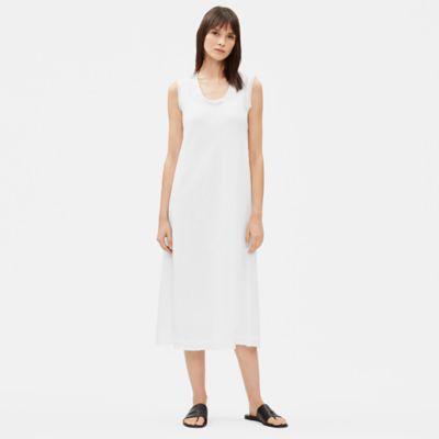 Organic Handkerchief Linen Raw-Edge Dress