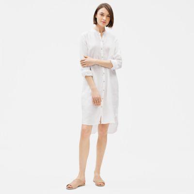 Organic Handkerchief Linen Shirt Dress