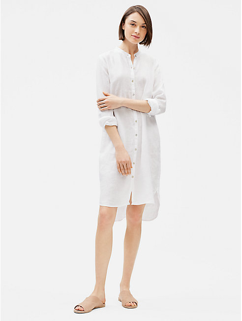 Organic Handkerchief Linen Shirt Dress