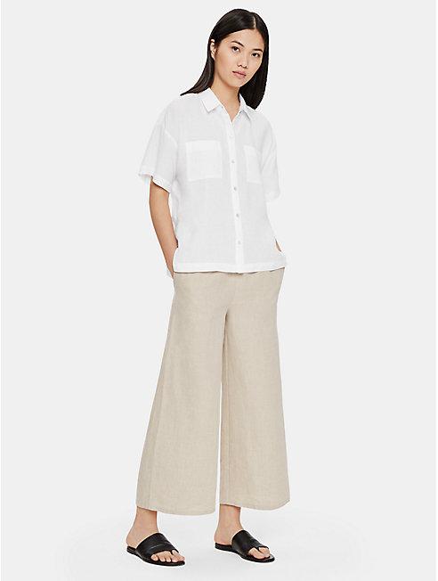 Organic Handkerchief Linen Short-Sleeve Shirt