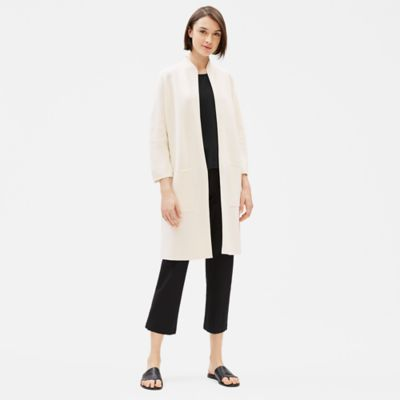 Silk & Organic Cotton Long Jacket