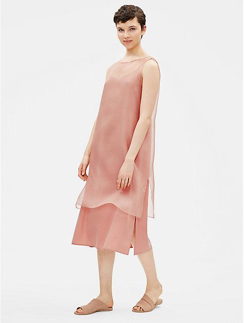 Washed Silk Organza Layering Dress