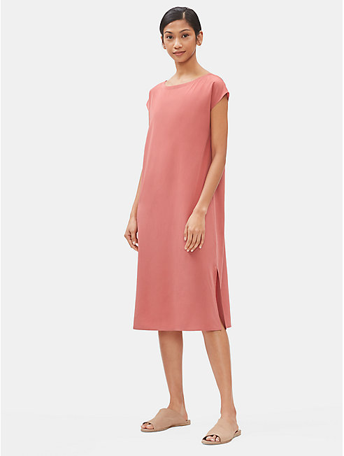 Sandwashed Tencel Column Dress