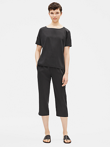 Sandwashed Tencel Cropped Pant