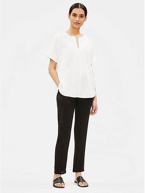 Sandwashed Tencel Short-Sleeve Box-Top