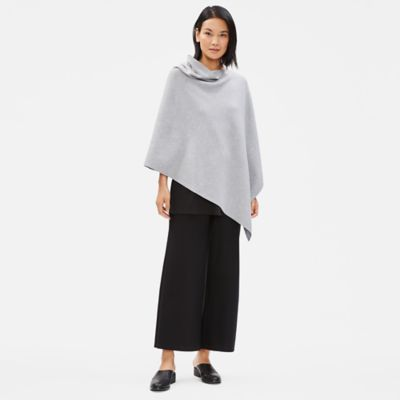 Organic Cotton Silk Poncho