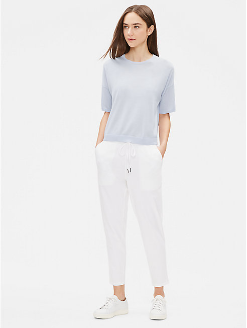 Tencel Stretch Elbow-Sleeve Tee