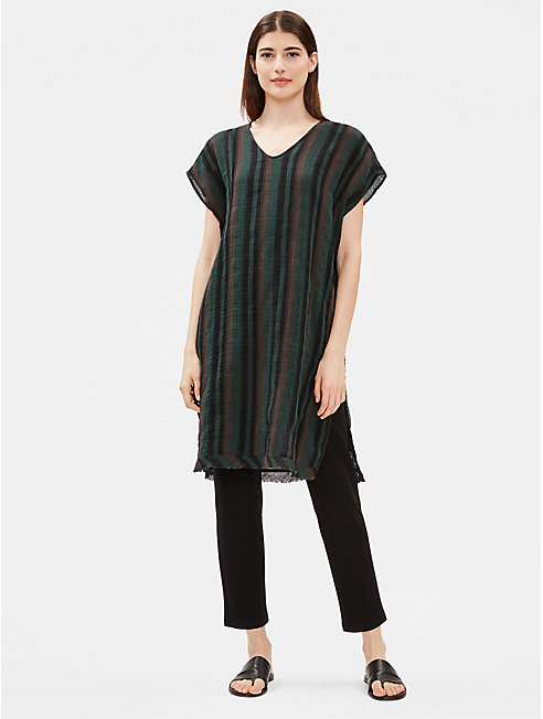 Organic Cotton Gauze Striped Caftan