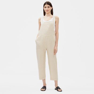 Organic Linen Cropped Jumpsuit