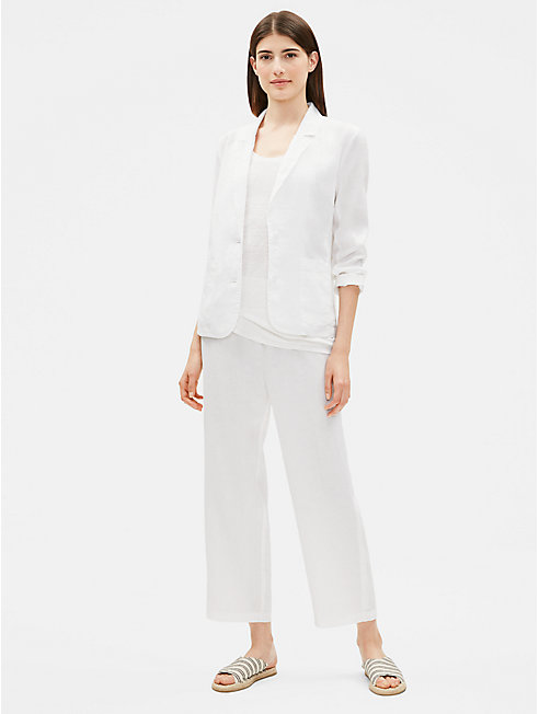 Organic Linen Notch Collar Blazer