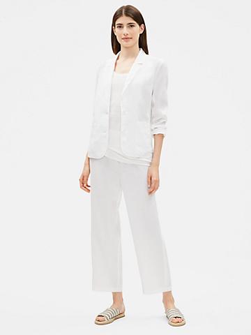 Organic Linen Notch Collar Blazer