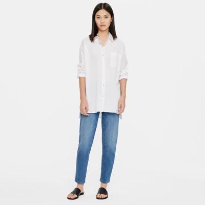 Organic Cotton Denim Tapered Ankle Jean
