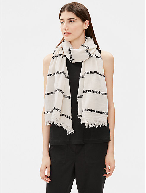 Organic Cotton Thick Striped Scarf