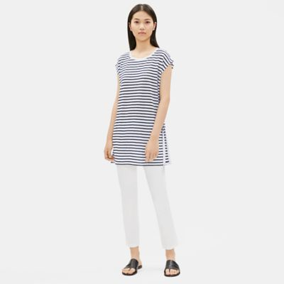 Organic Linen Jersey Striped Tunic