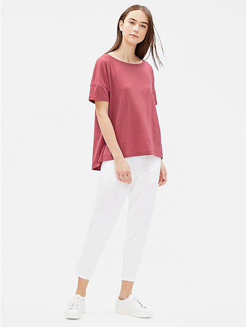 Organic Cotton Slub Bateau Neck Tee