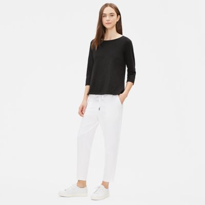 Organic Cotton Slub 3/4-Sleeve Top