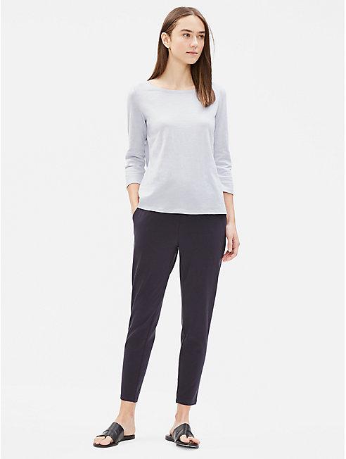 Organic Cotton Slub 3/4-Sleeve Top