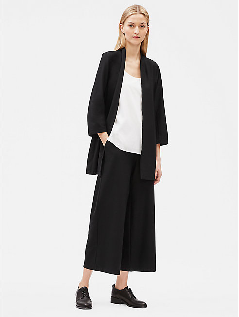 Lightweight Washable Stretch Crepe Kimono Jacket