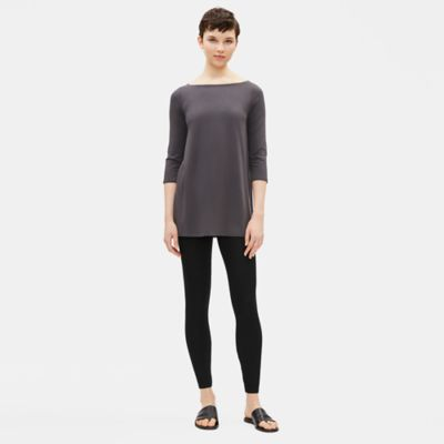 Lightweight Washable Stretch Crepe Ankle Leggings