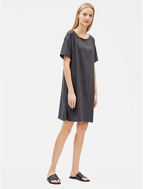Tencel Viscose Morse Code Dress