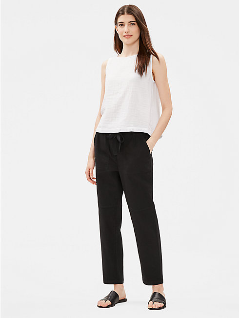 Organic Cotton Twill Slim Ankle Pant