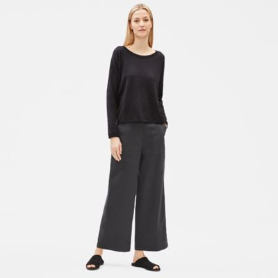 Organic Cotton Twill Wide Ankle Pant