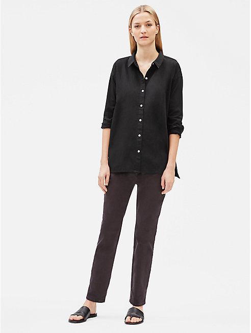 Organic Cotton Twill Classic Collar Shirt