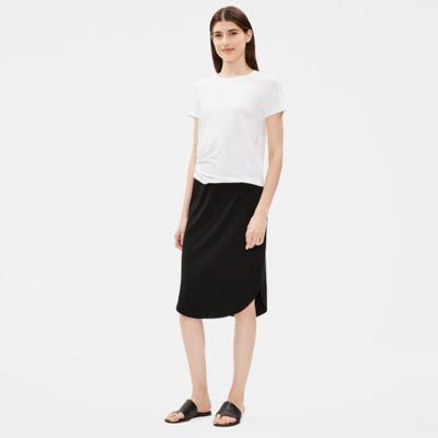 Viscose Jersey Shirttail Hem Skirt
