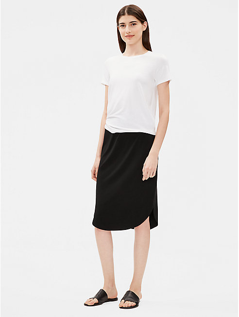 Viscose Jersey Shirttail Hem Skirt