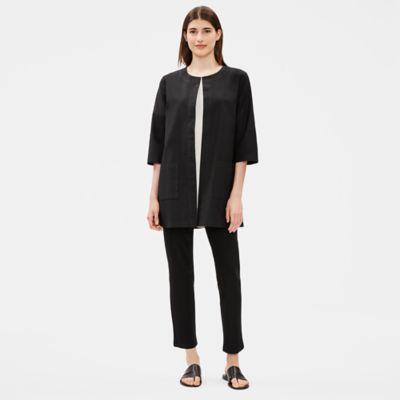 Organic Cotton Round Neck Long Jacket