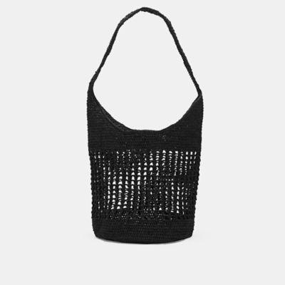 Mar Y Sol Crocheted Raffia Shoulder Bag