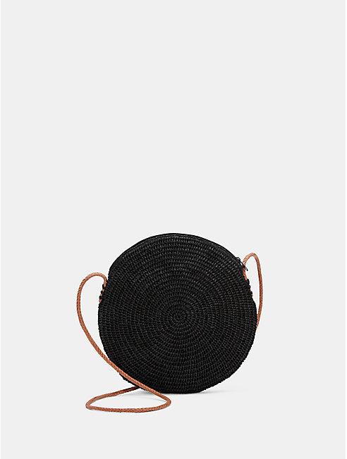 Mar Y Sol Crocheted Raffia Circle Bag