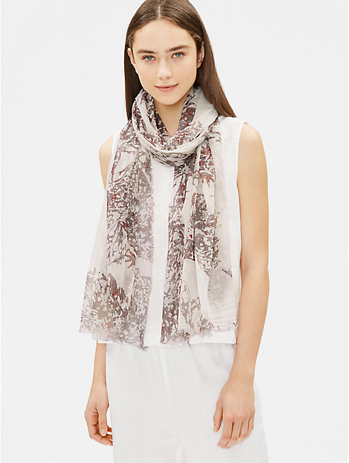 Organic Cotton Watercolor Scarf