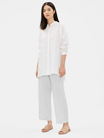 Organic Handerchief Linen Striped Pant
