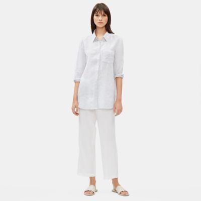 Organic Handkerchief Linen Striped Shirt