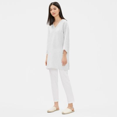 Organic Handkerchief Linen Striped Tunic